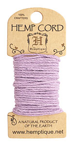 Lavender Hemp Twine 20 lb, 20 ft