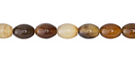 Brown Line Agate Rice 8x6mm