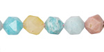 Multi Stone (Amazonite & Multi Beryl) Star Cut Round 10mm