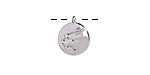 Rhodium (plated) w/ Crystals Aquarius Constellation Charm 11x13mm