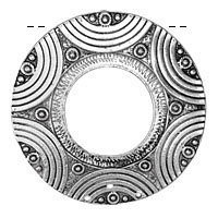 Zola Elements Antique Silver (plated) Rainbow Donut Focal 61mm