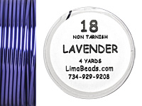 Parawire Lavender 18 Gauge, 4 Yards