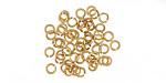 Satin Hamilton Gold (Plated) Round Jump Ring 3mm, 22 Gauge