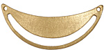 Zola Elements Matte Gold (plated) Arc Cutout Focal Link 50x20mm