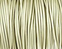 Shell (metallic) Round Leather Cord 2mm