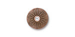 TierraCast Antique Copper (plated) Starburst w/ Crystal Button 15mm