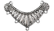 Zola Elements Antique Silver (plated) Bull Horn 2-4 Focal 50x20mm