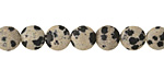 Dalmation Jasper Puff Coin 8mm