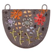 Gaea Ceramic Flower Pot Pendant 35-41x32-39mm