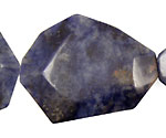 Dumortierite Faceted Flat Slab 35-45x25-35mm