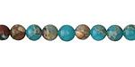 Turquoise Impression Jasper Round 6mm