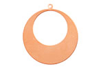 Copper Gypsy Hoop Blank 32x34mm