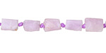Kunzite Matte Natural Cut Tube 8-10x6-7mm