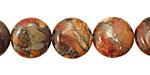 Red Creek Jasper w/ Pyrite Puff Coin 14mm