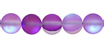 Violet Fused Glass AB (matte) Round 10mm