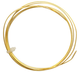 Flat Artistic Wire Gold (plated) 21 gauge, 3 feet