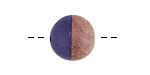 Wood & Navy Blue Resin Bead 14-15mm
