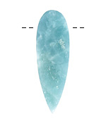 Amazonite Rough Cut Long Point Drop 15-16x45-54mm