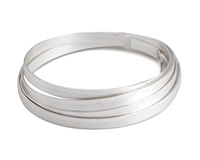 Flat Artistic Wire Tarnish Resistant Silver (plated) 5mm 21 gauge, 3 feet