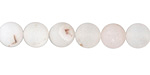 White Agate (matte) Round 8mm