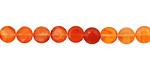 Carnelian (natural-orange) Faceted Puff Coin 6mm