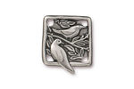 TierraCast Antique Pewter (plated) Botanical Bird Link 18x21mm