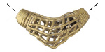 African Brass Boomerang w/ Basket 34-40x13-15mm
