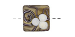 A Beaded Gift Plumeria Blossoms Puff Pillow 18mm