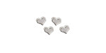 Silver (plated) Heart Focal Bead 5mm