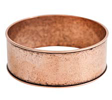 "Nunn Design Antique Copper (plated) 1"" Channel Bangle Bracelet 70mm"