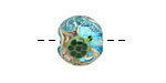 Grace Lampwork Turtle Cove Lentil 15mm