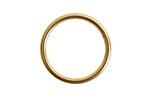 Nunn Design Antique Gold (plated) Open Frame Small Hoop 24.5mm
