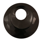 Black Onyx Faceted Off Center Donut 50mm