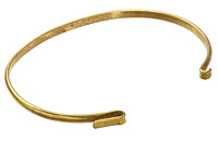 Antique Brass Link Bangle 6.5 inch