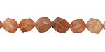 Peach Moonstone Star Cut Round 8mm