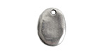 Nunn Design Antique Silver (plated) Primitive Oval Charm 14x18mm