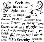 Nunn Design Decorative Words Transfer Sheet