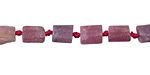 Pink Tourmaline Matte Natural Cut Tube 5-8x4-7mm