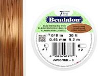 """Beadalon Satin Copper .018"""" 7 Strand Wire 30ft."""