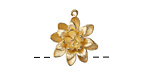 Zola Elements Satin Gold (plated) Dahlia Charm 17x19mm