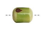Tagua Nut Apple Bicolor Barrel 23-24x16-17mm