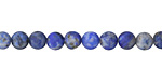 Denim Lapis (matte) Round 6mm
