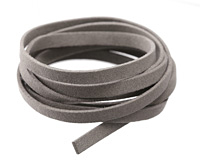 Concrete Microsuede Flat Cord 7mm