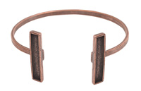 Nunn Design Antique Copper (plated) Rectangle Bezel Cuff Bracelet