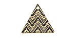 Moroccan Etched & Printed Gold Finish Triangle Focal 22x19mm