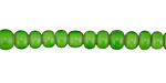 African Trade Beads Apple Green White Heart Glass 4-5x6-7mm