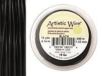Artistic Wire Black 18 gauge, 10 yards