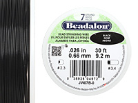 "Beadalon Black .026"" 7 Strand Wire 30ft."