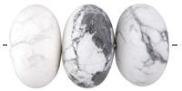 White Howlite (matte) Rondelle 19-20x30-31mm