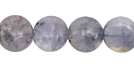 Iolite Puff Coin 14mm